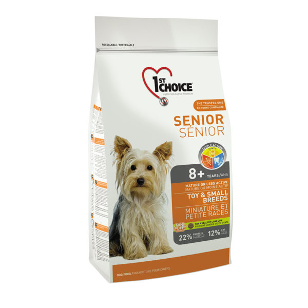 Senior Toy & Small Breeds 2,72 kg – (8+years) Mature or Less Active 1st Choice